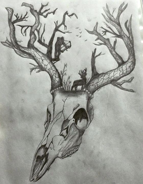 Drawn stag hunting Pinterest ideas Deer best more