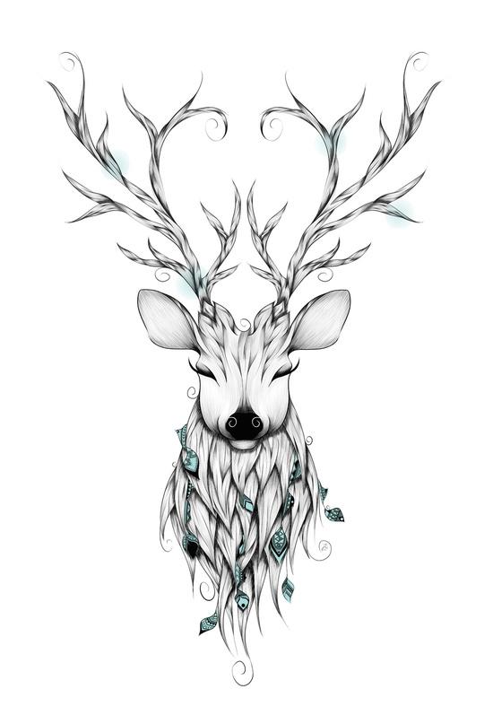 Drawn reindeer printable Art Print Art Deer and