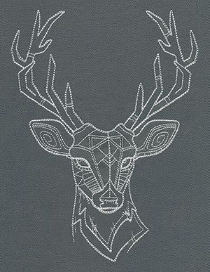 Drawn stag geometric Drawing on and Pretty head