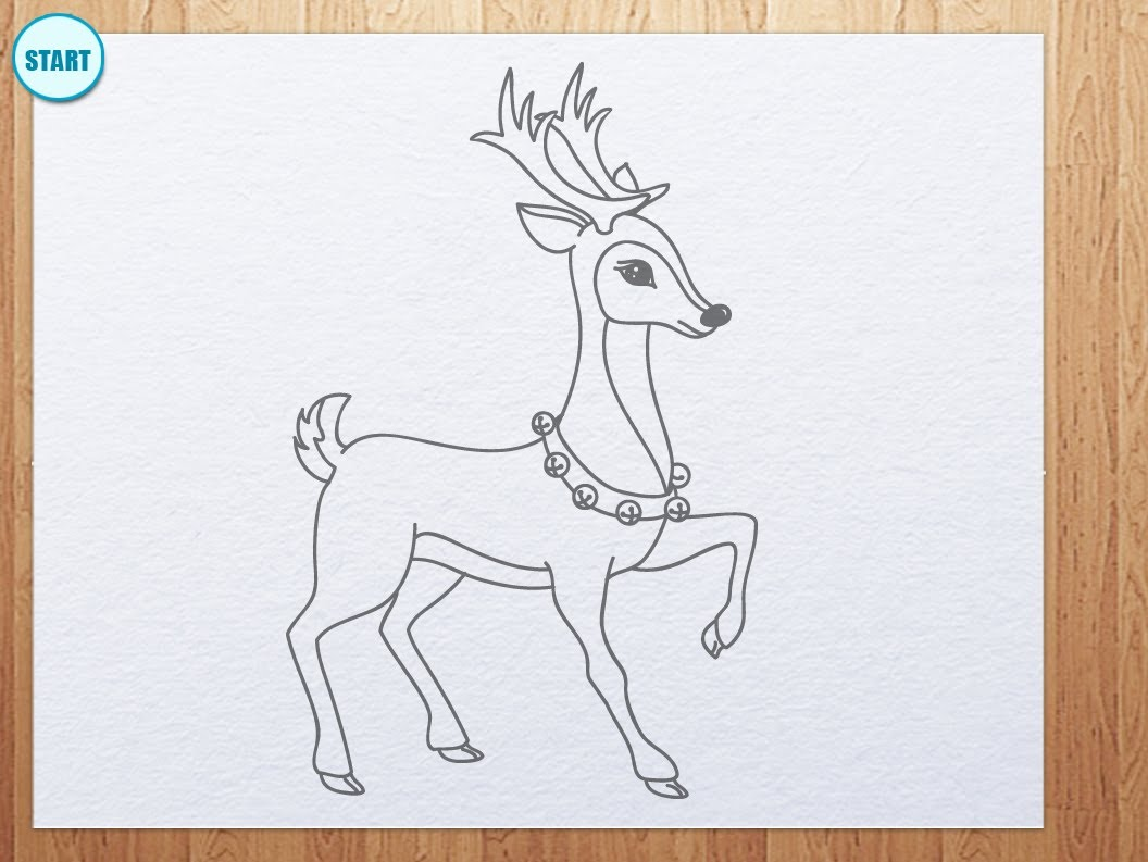 Drawn reindeer easy Draw Unsubscribe kidsarthub? from YouTube