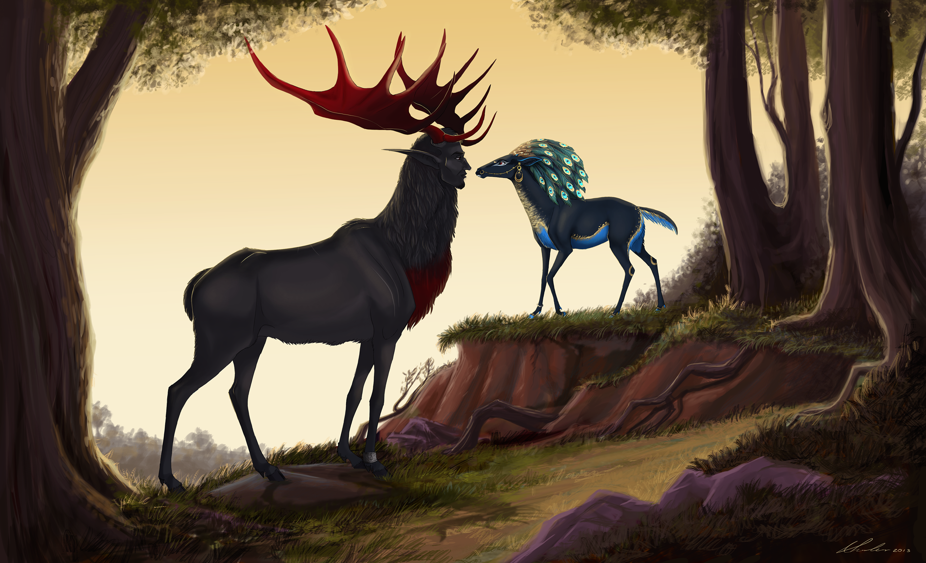 Drawn buck the endless forest Forest This In by Hearts