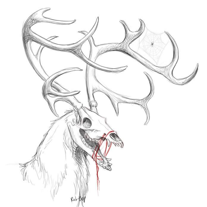 Drawn buck the endless forest Pinterest The Skull 5: Art