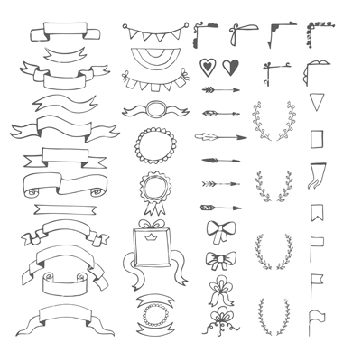 Drawn decoration doodle Decorative vector vector  of