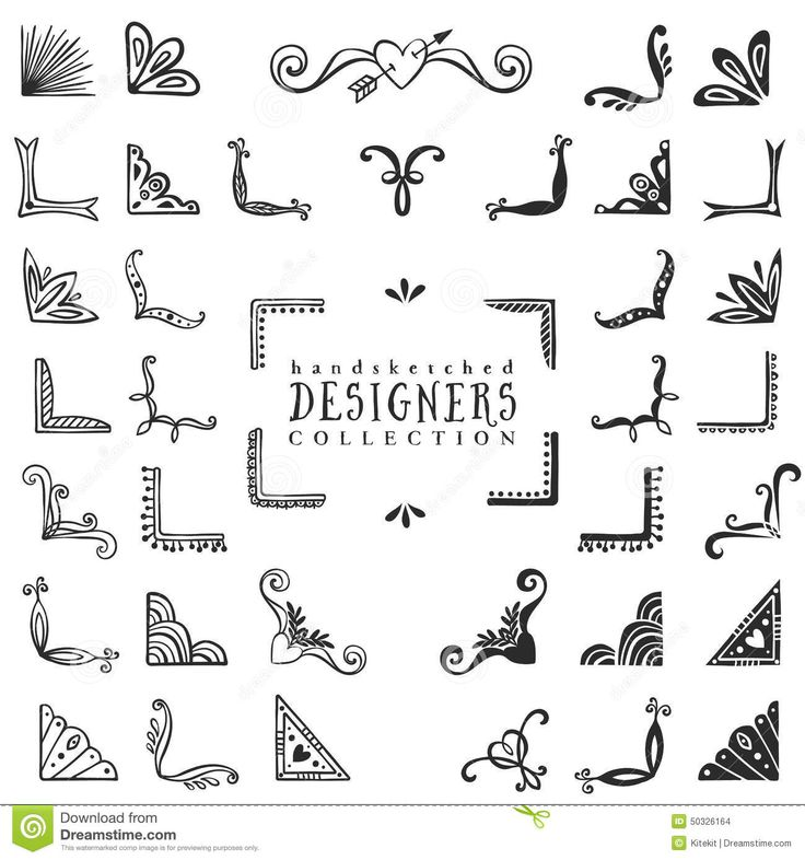 Drawn decoration doodle Design decorative Hand on lettering