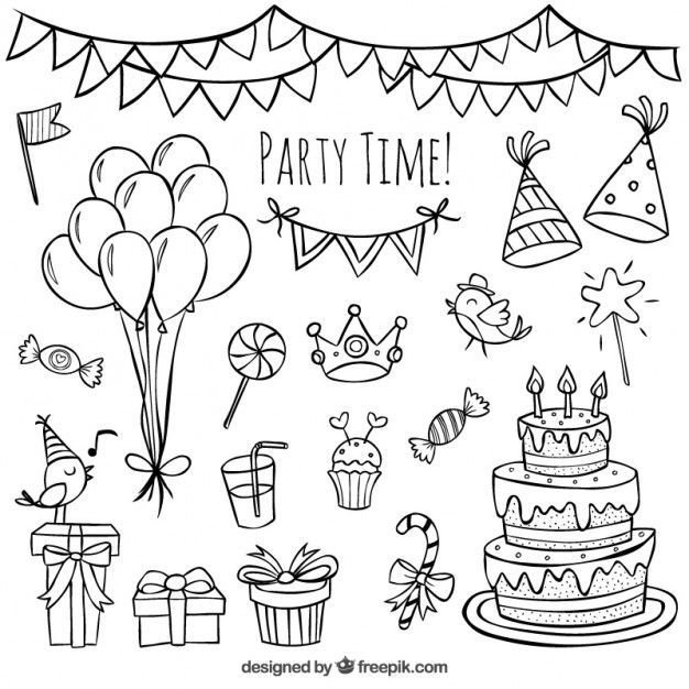 Drawn decoration doodle Doodles desenhada aniversário Doodle Doodle