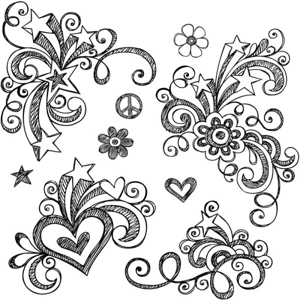 Drawn floral Decor Hand vector Hand Floral