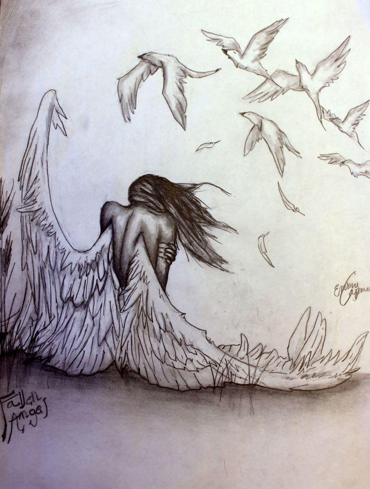 Drawn sad demon Pencil of angels Pinteres… Search