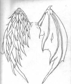 Drawn angel folded wing Angel Best Draw How Pinterest