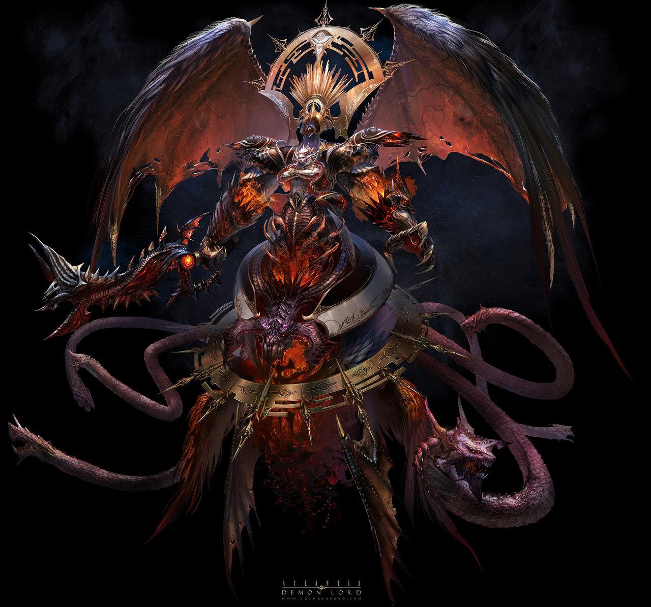 Drawn demon demon lord @deviantART yuchenghong com Demon @deviantART
