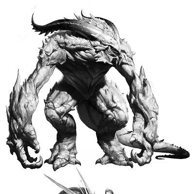 Drawn demon demonic creature Demons Pinterest more this sketch