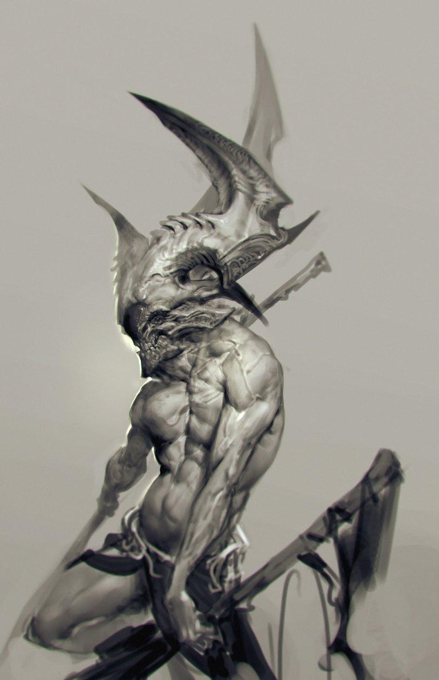 Drawn demon demonic creature On Occult on deviantart demons!