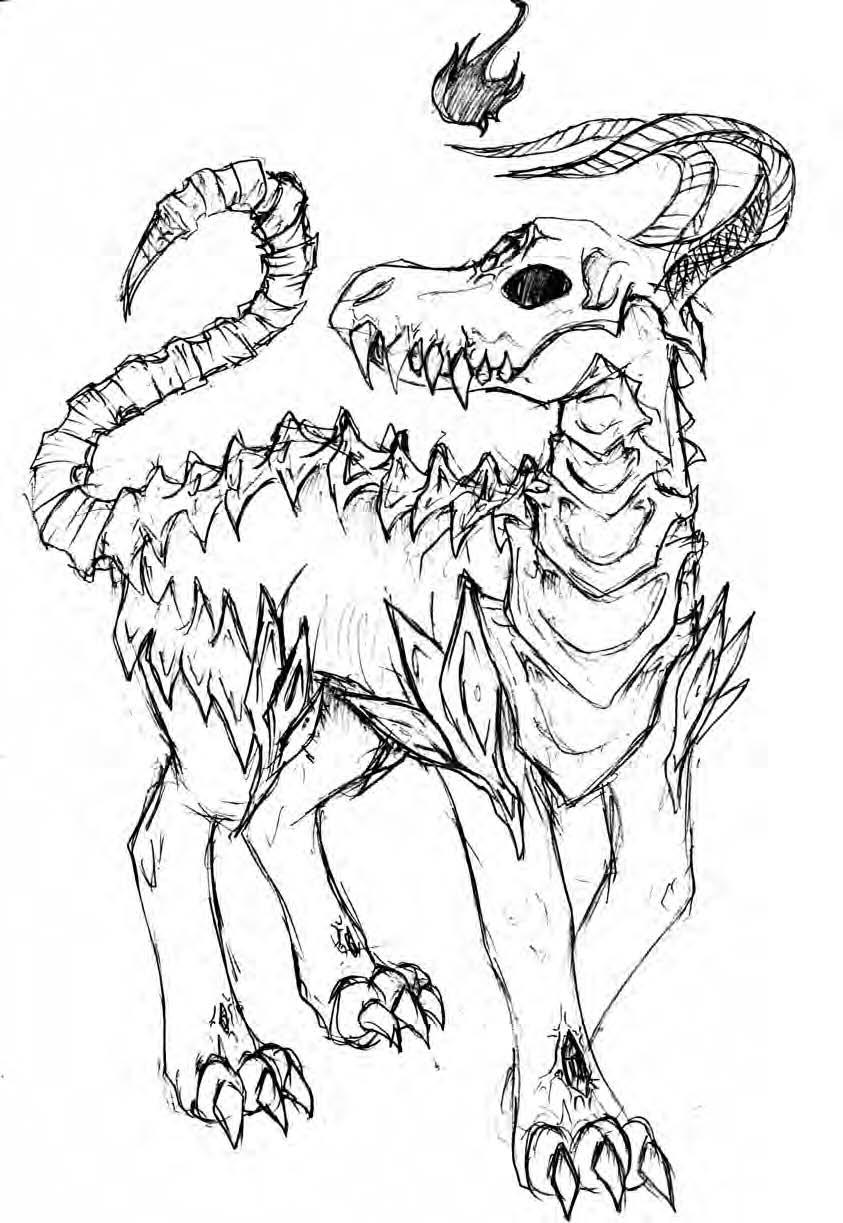 Drawn demon demonic creature Creature DeviantArt peak peak creature