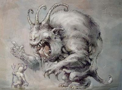 Drawn demon demonic creature Evil Demons  Drawings