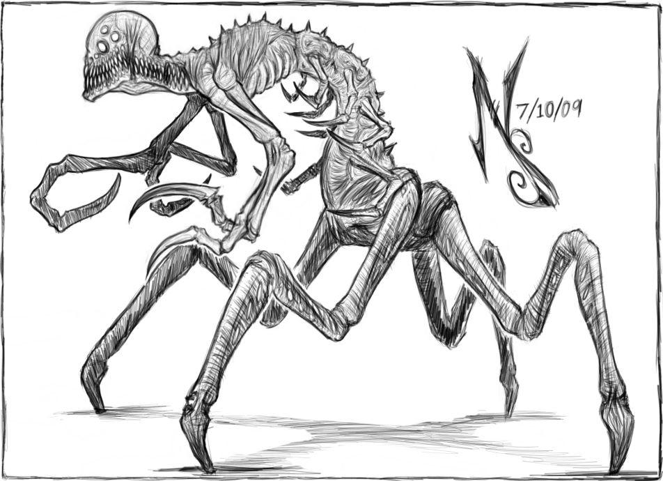 Drawn demon demonic creature By Demonic Creature on by