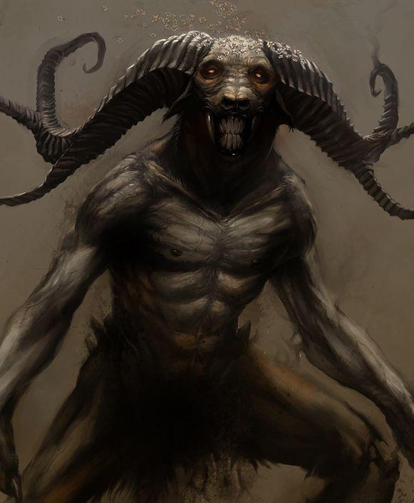 Drawn demon demonic creature Monster Disturbing Creature more this