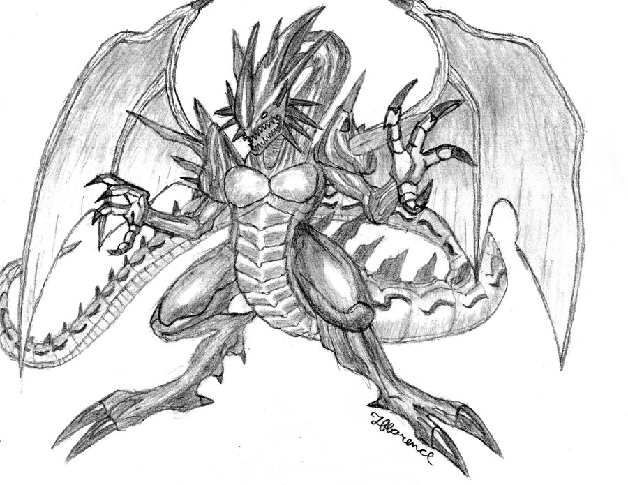 Drawn demon dragon #3