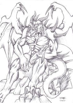Drawn demon dragon #5