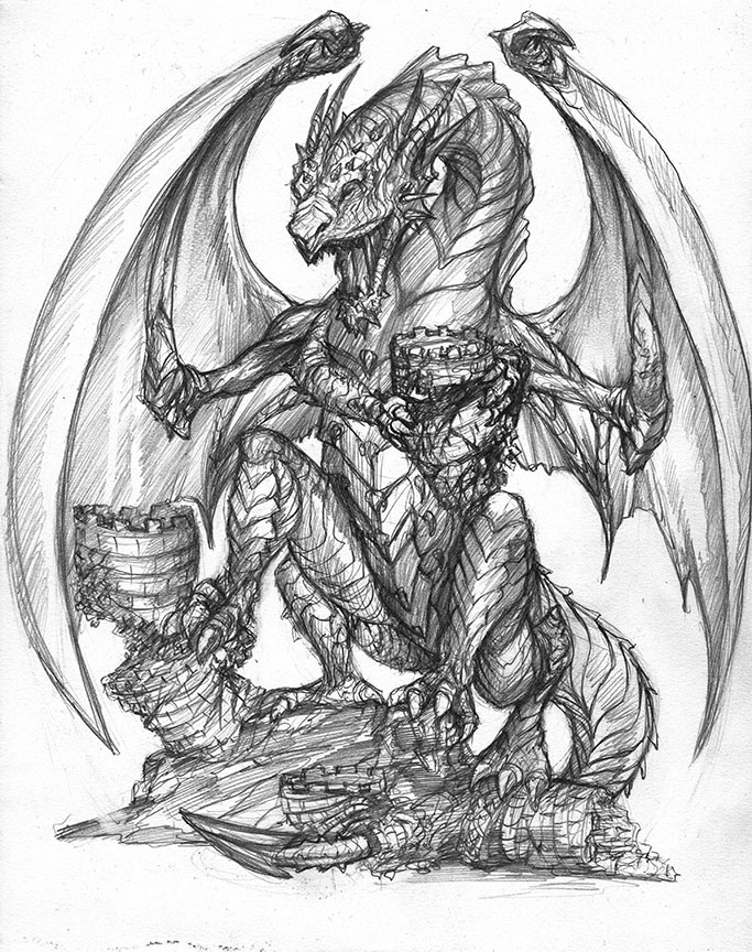 Drawn demon dragon #10