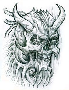 Drawn demon head Angels Demons  Satan drawing