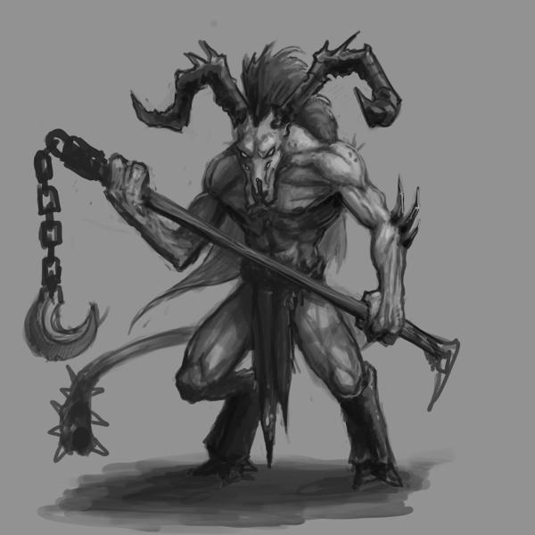 Drawn demon horned demon #13