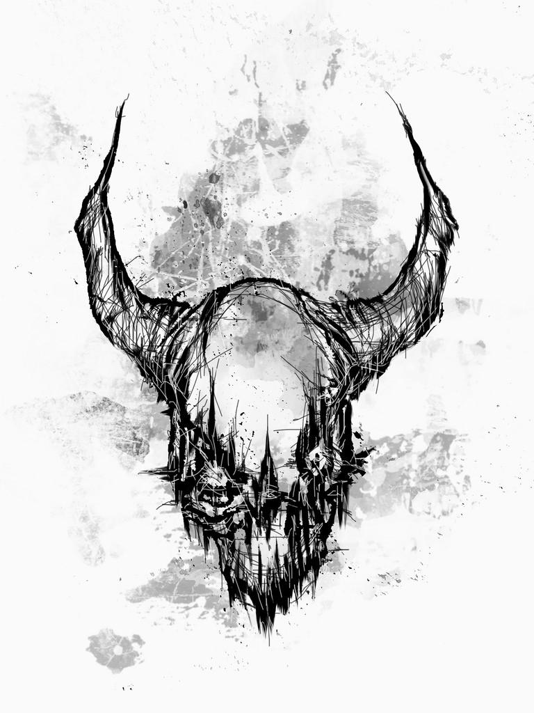 Drawn demon horned demon #12