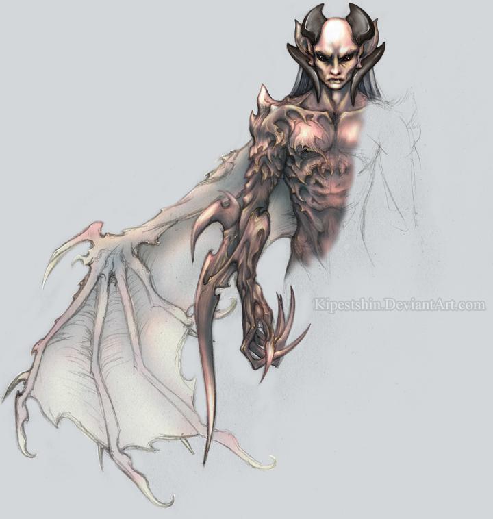 Drawn demon horned demon #6