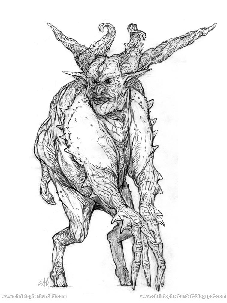 Drawn demon horned demon #2
