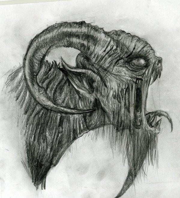 Drawn demon horned demon #8