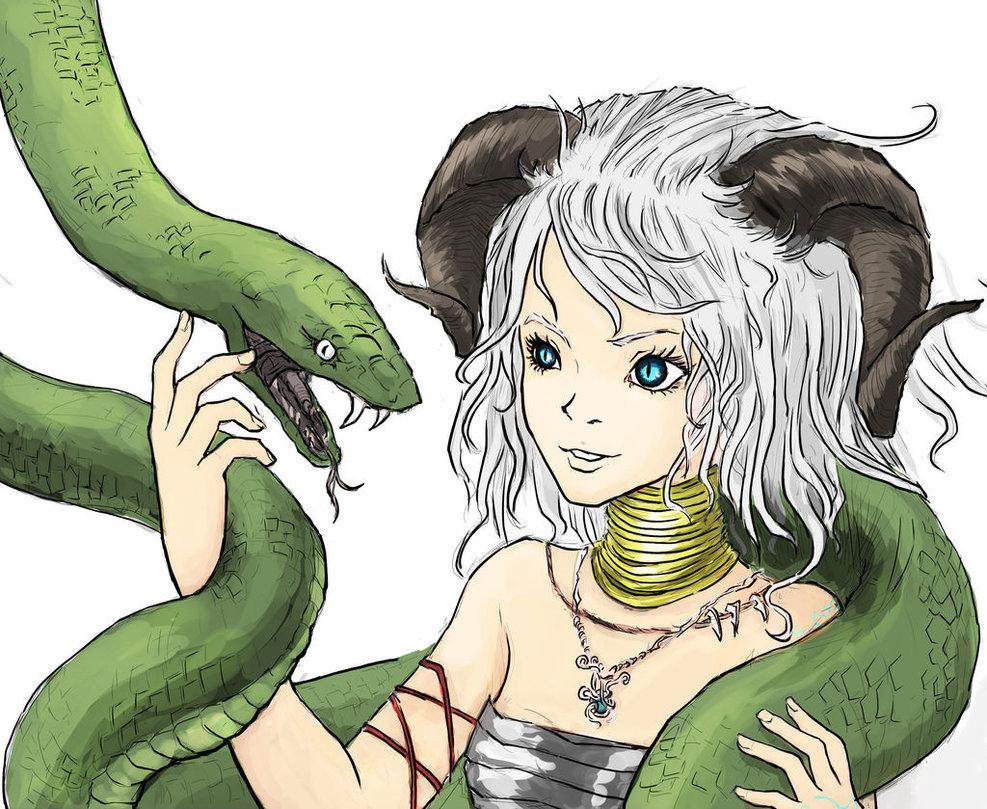Drawn demon horned demon #14