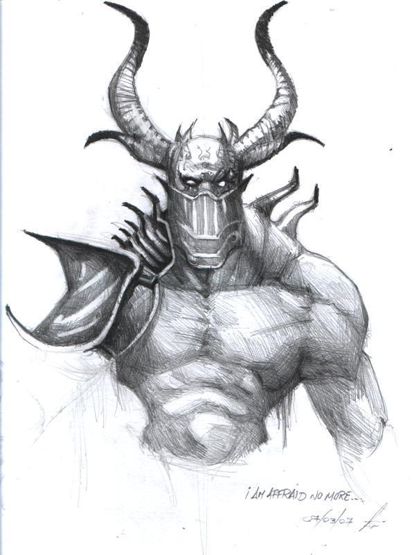 Drawn demon horned demon #11