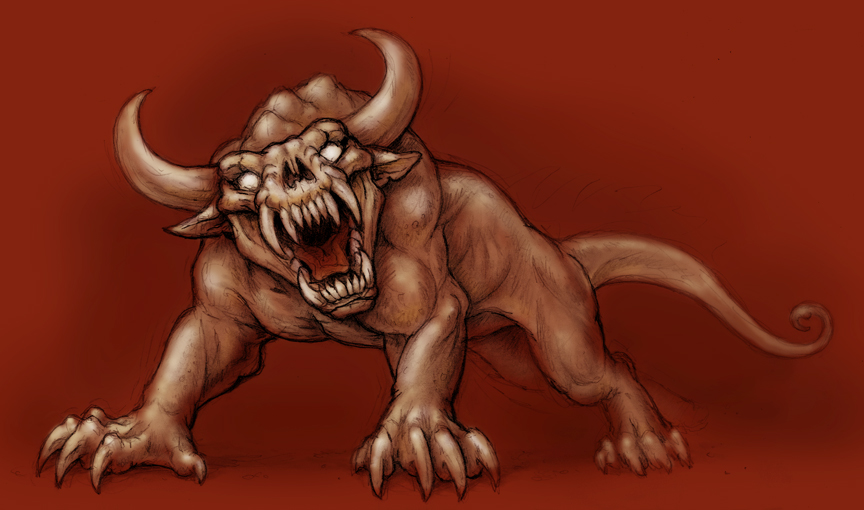 Drawn demon horned demon #3