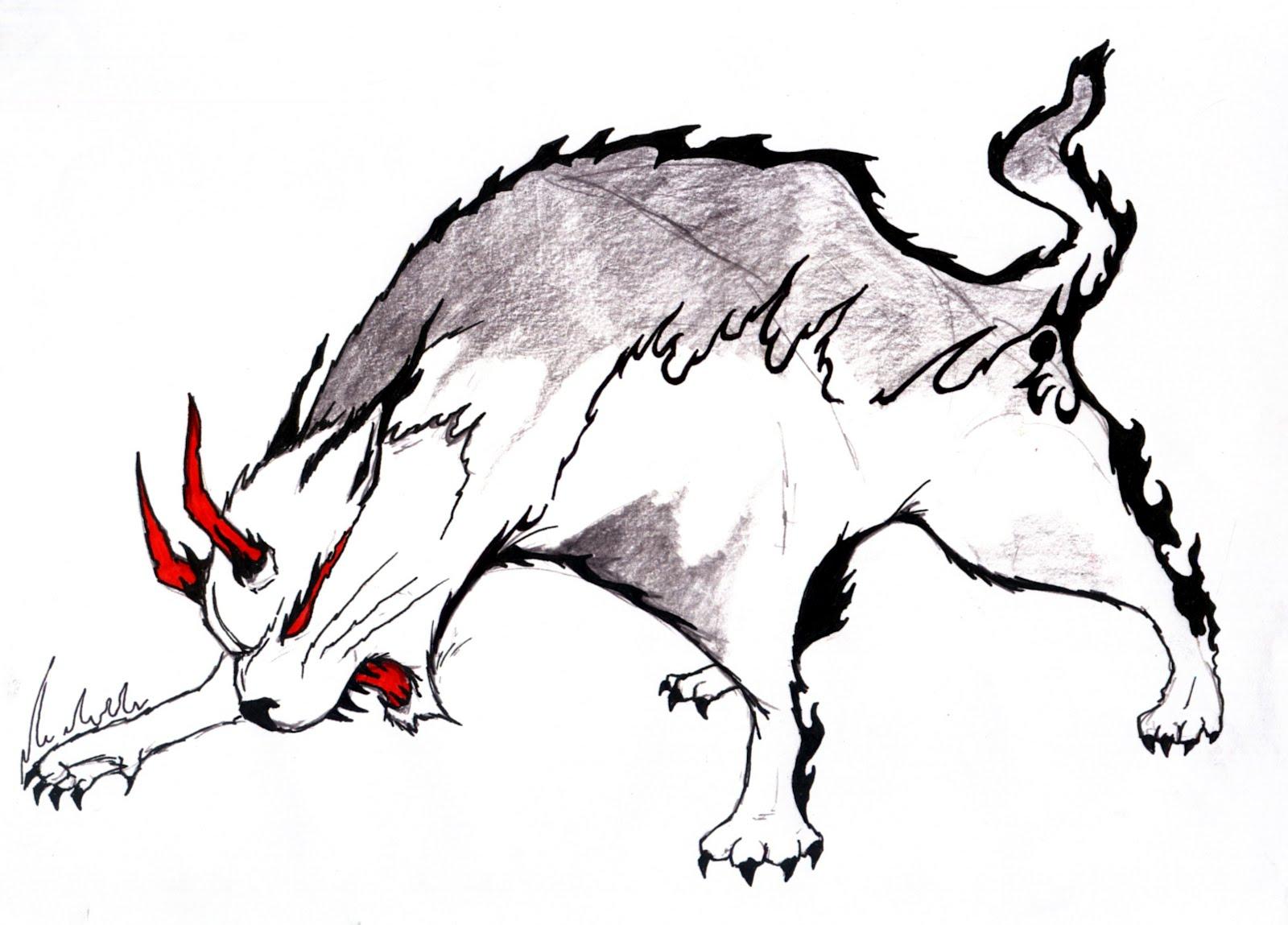 Drawn demon horned demon #5