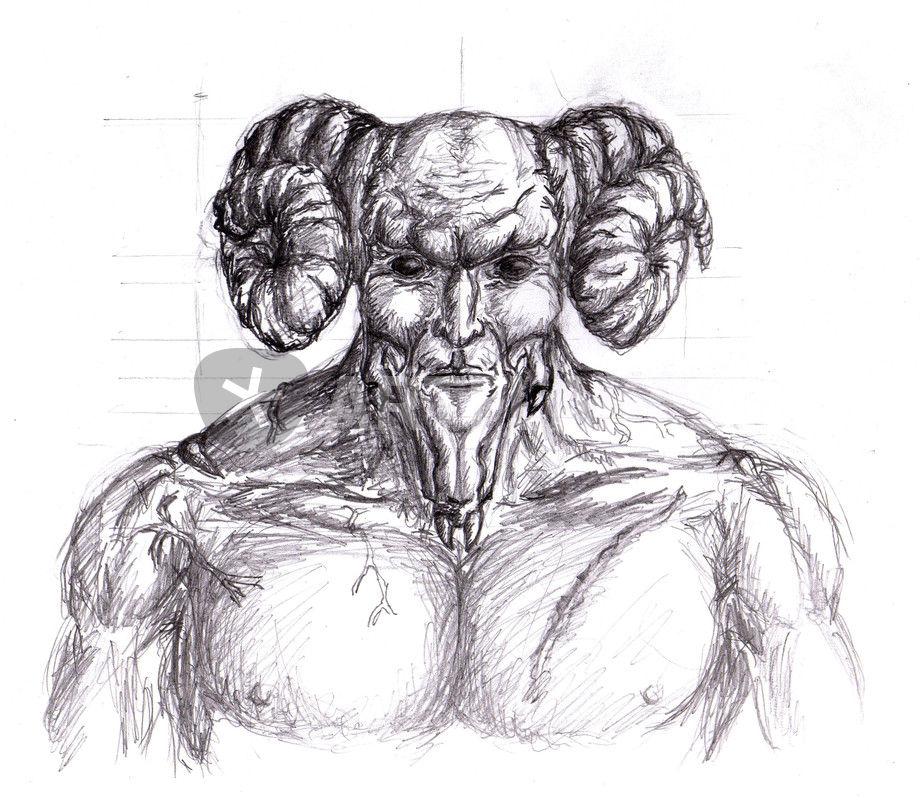 Drawn demon horned demon #15