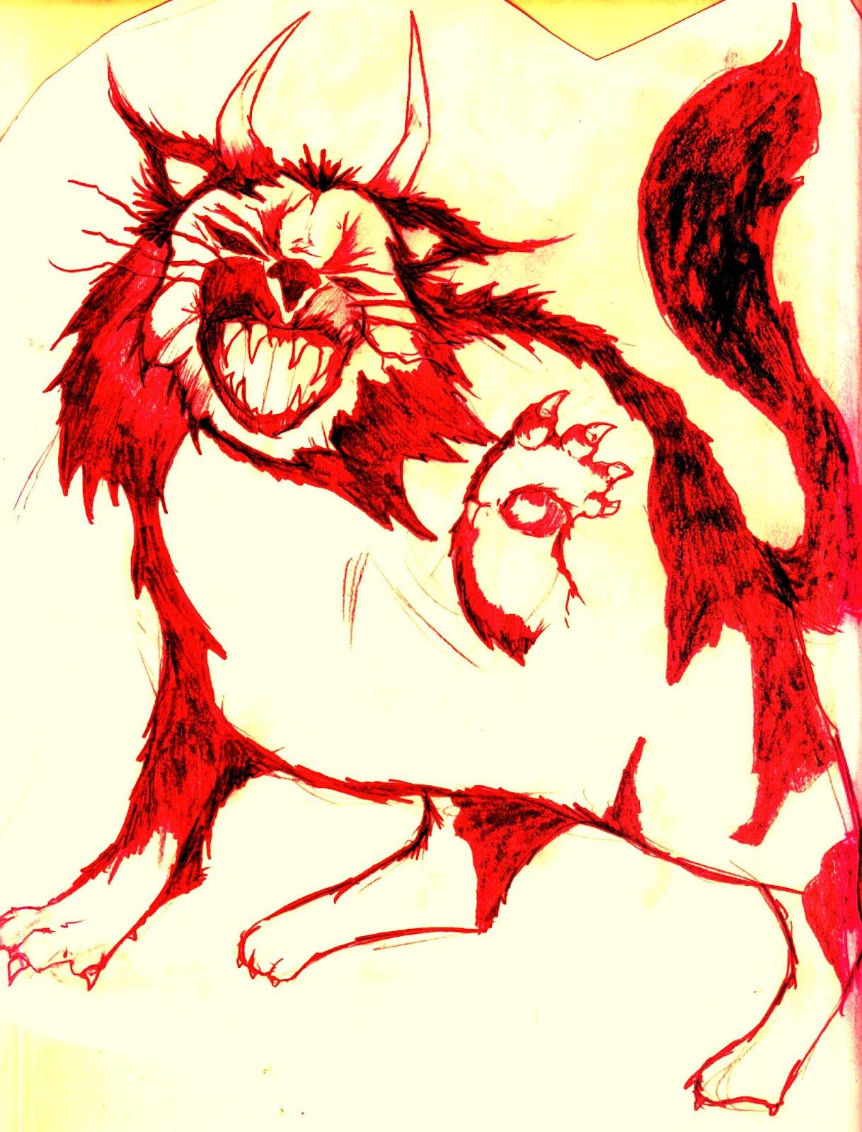 Drawn demon horned demon #1
