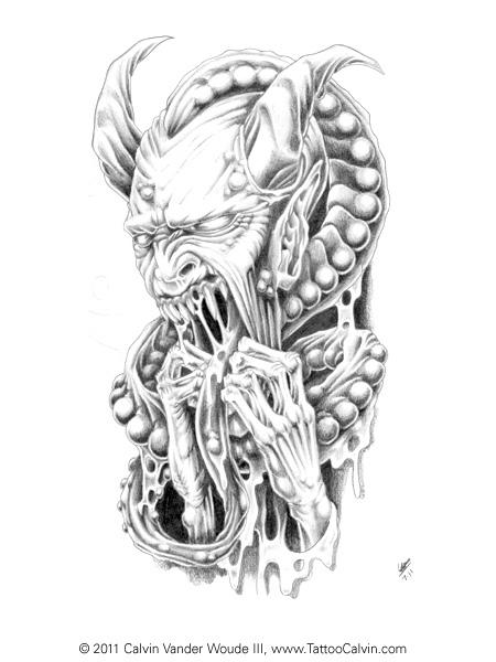 Drawn demon horned demon #7