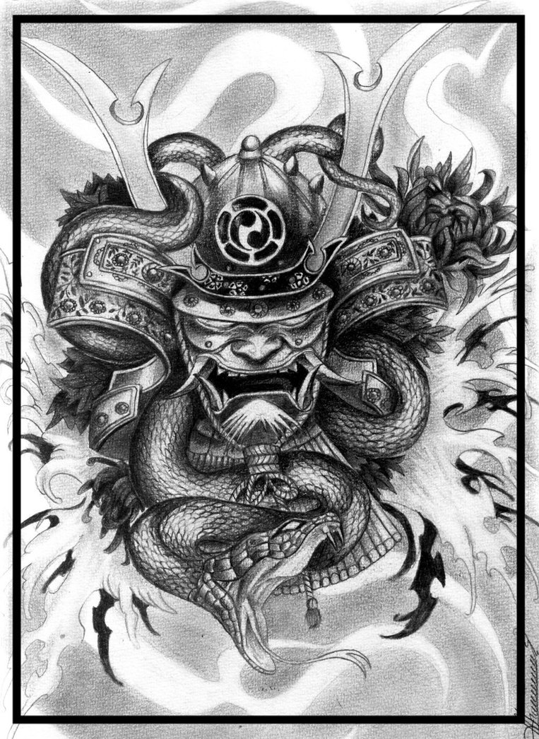 Drawn samurai demonic Samurai 21 by demon DeviantArt