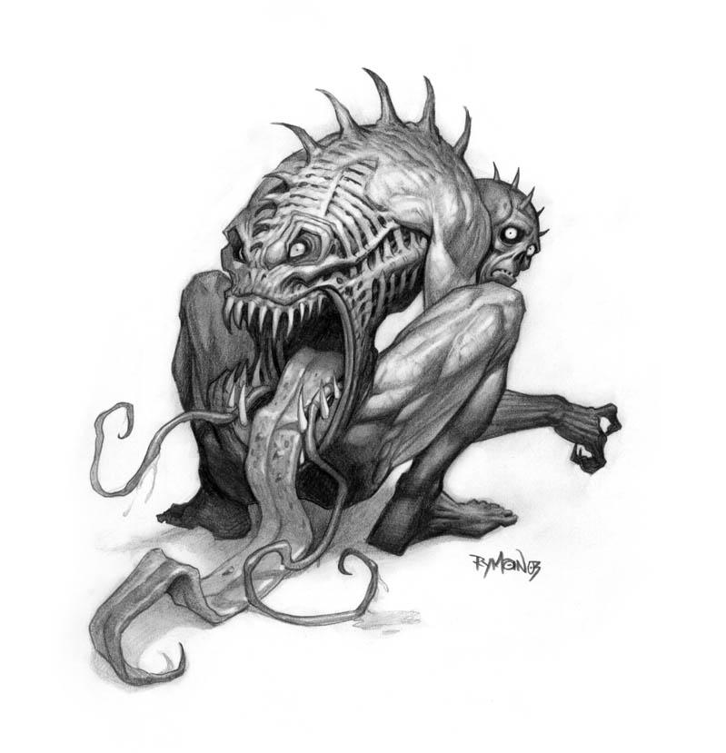 Drawn sad demon Of Drawings And Satan Demons