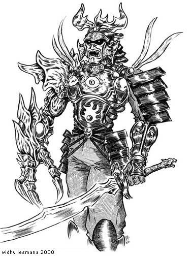 Drawn samurai demonic Wlesmana Demon @DeviantArt on Samurai