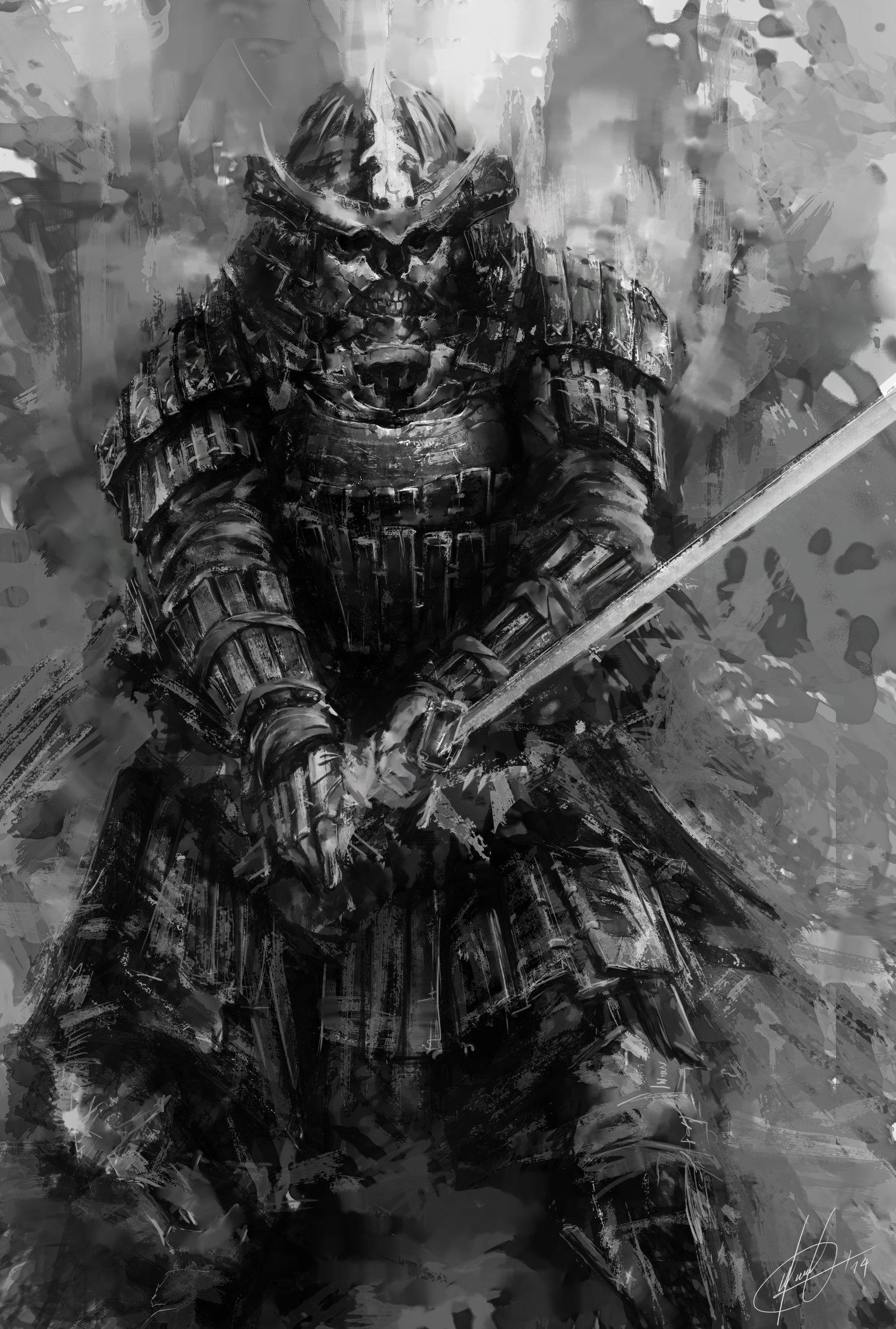 Drawn samurai demonic Tattoo demon and samurai tattoo