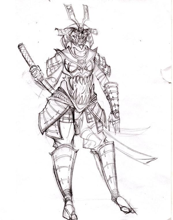 Drawn samurai demonic Design DeviantArt on demon samurai