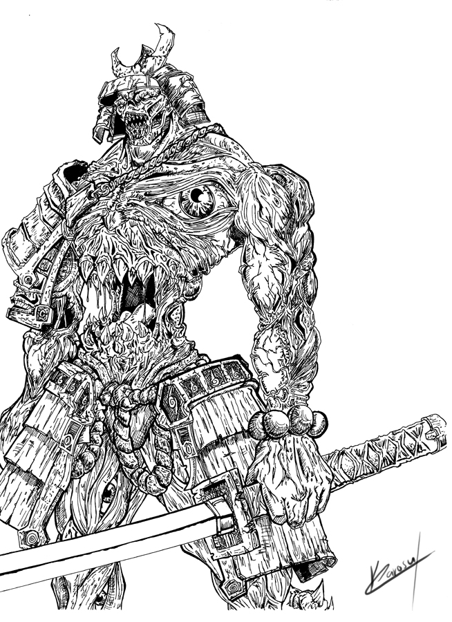 Drawn samurai demonic 25 Maker Karosu by samuraidemon