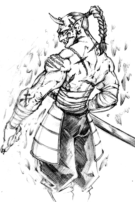 Drawn samurai demonic Demon Demon by Samurai DeviantArt
