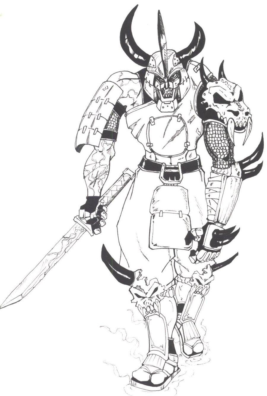 Drawn samurai demonic Mawnbak Demon Mawnbak by Samurai