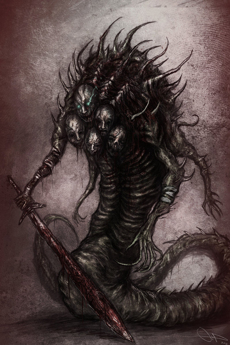 Drawn snake demon By on by ZOMBIES DeviantArt