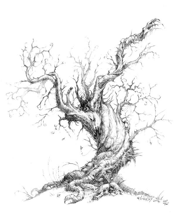 Drawn demon tree #11