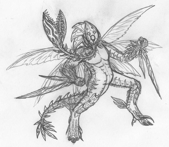 Drawn demon tree #7