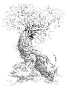 Drawn demon tree #6