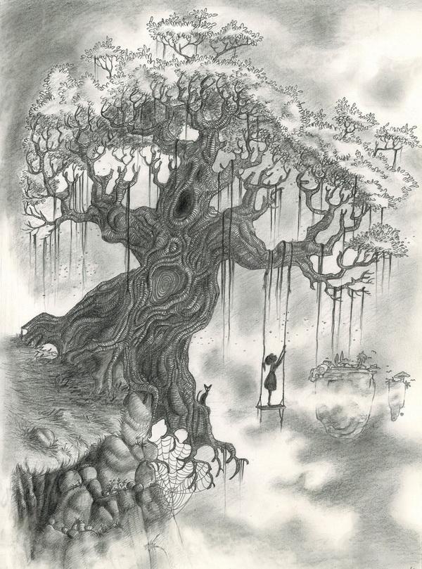 Drawn demon tree #4