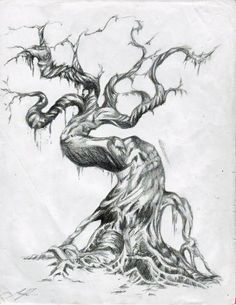 Drawn demon tree #8