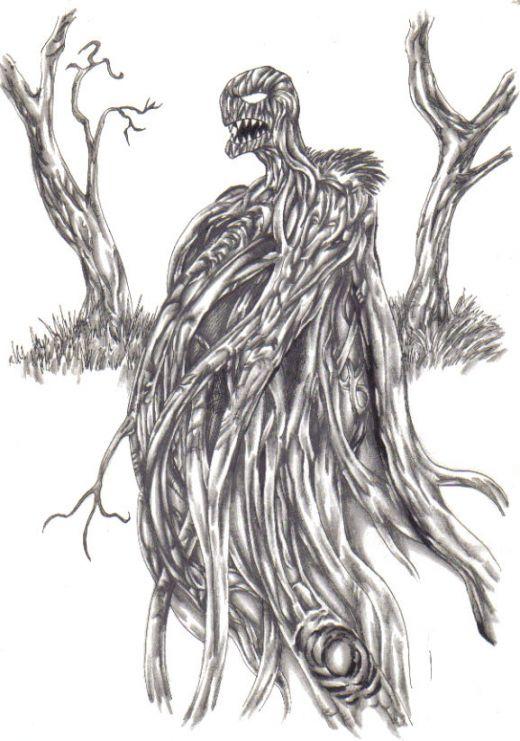 Drawn demon tree #12